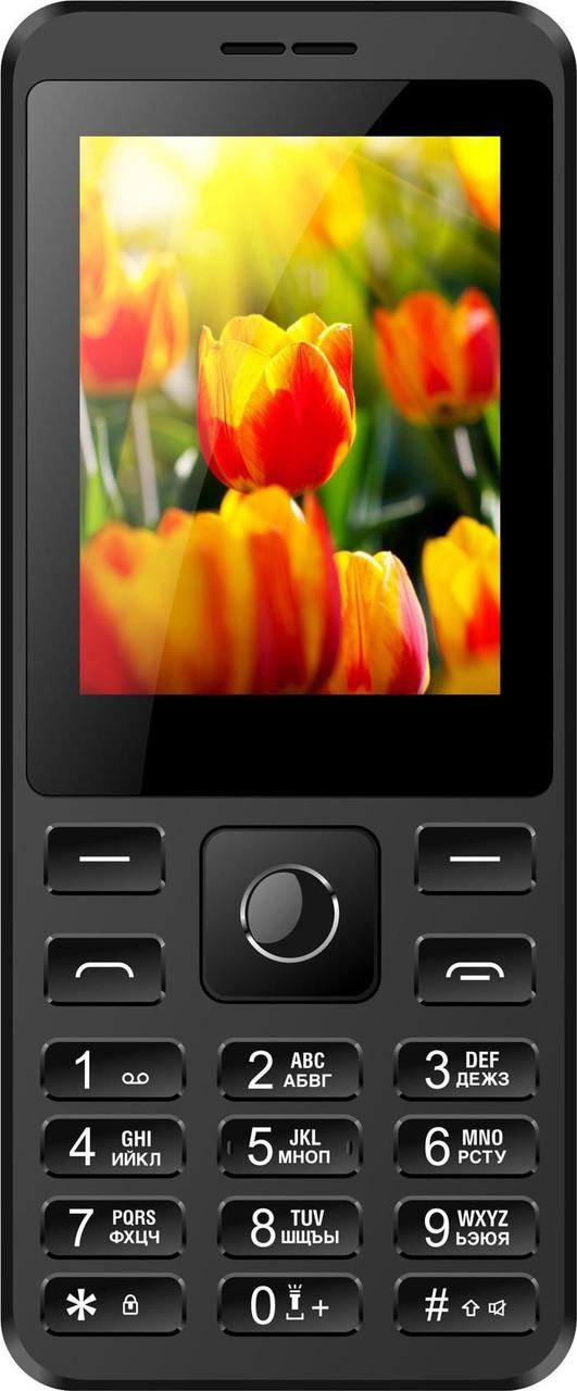 """Кнопочный телефон с мощной батареей и камерой на 2 сим карты Nomi i249 Black 2,4"""" АКБ 1700 мА*ч"""
