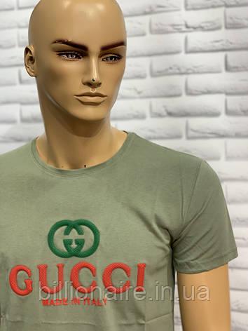 Футболка Gucci Репліка 2 Оливковий, фото 2