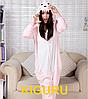 Розовый динозавр кигуруми пижама