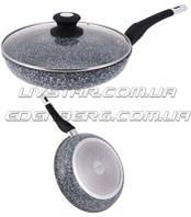Сковорода с крышкоймраморное покрытие 24 смEdenberg 9164