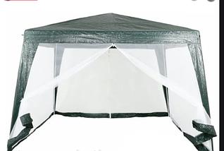 Садовый шатер павильон палатка 3х3 метра со стенами из москитной сетки, фото 3