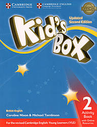 Рабочая тетрадь Kid's Box Updated 2nd Edition 2 Activity book + Online Resources