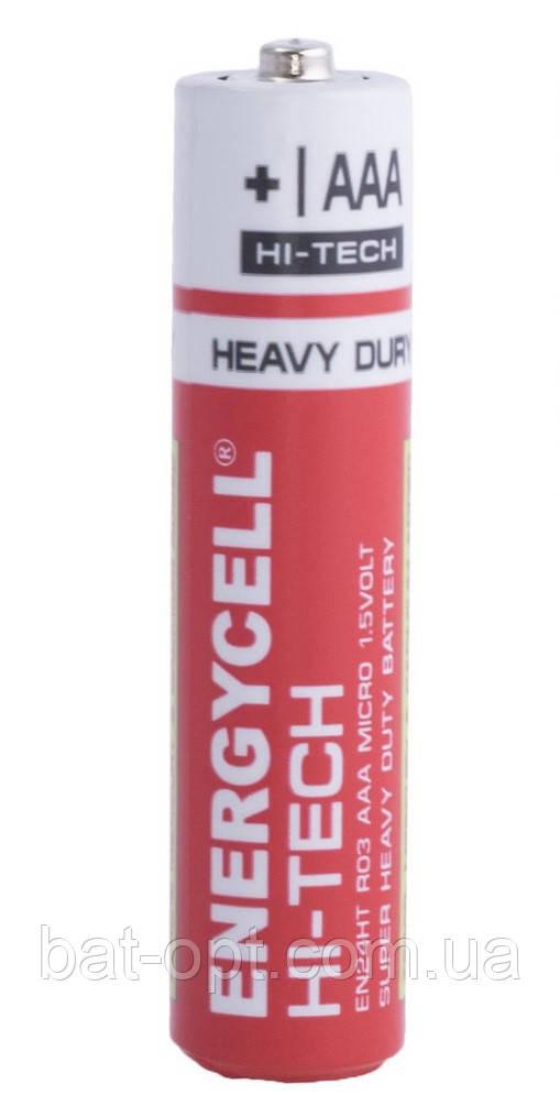 Батарейка солевая Energycell HI-TECH R3 AAA минипальчиковая (трей)