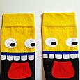 Шкарпетки високі з принтом Мега смайл розмір 37-43, фото 2