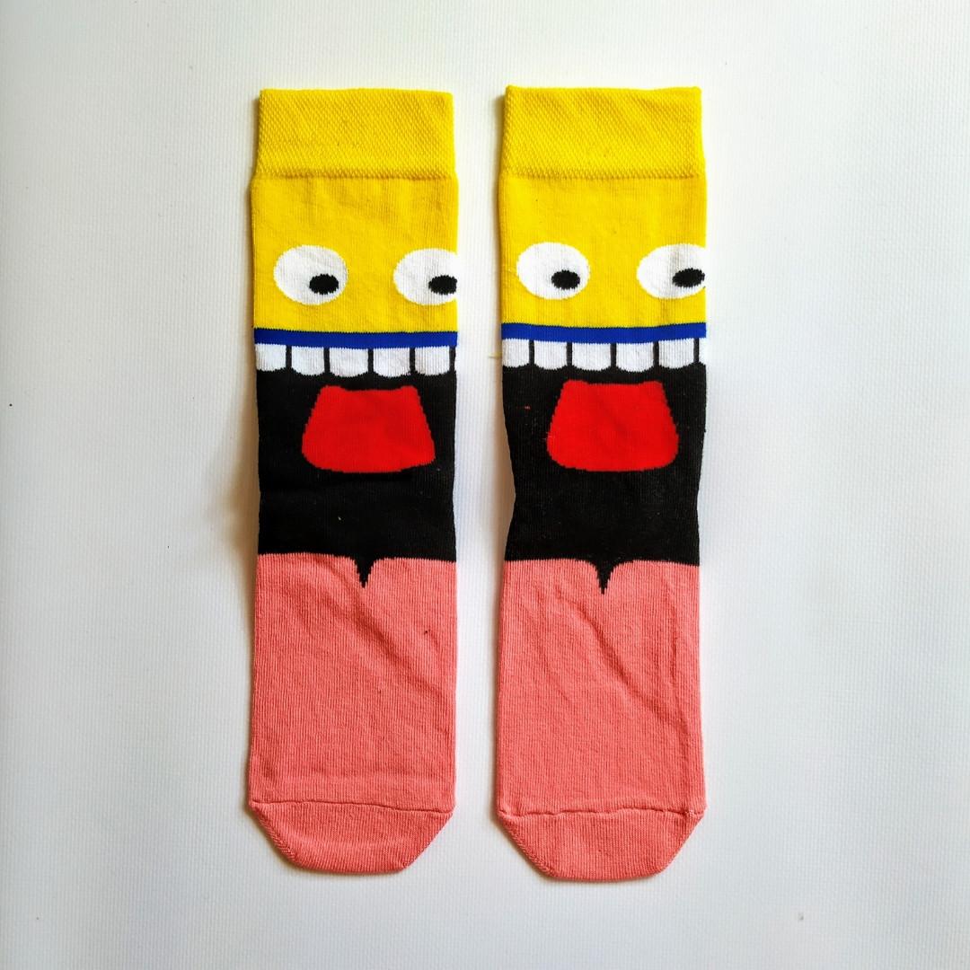 Шкарпетки високі з принтом Мега смайл розмір 37-43