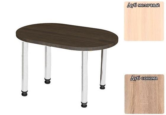 Купить Овальный кухонный стол ТИСА-МЕБЕЛЬ (1100 мм), Тиса мебель