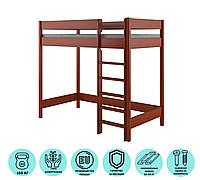 Кровать чердак для детей LukDom Hugo 180х90 Темный орех