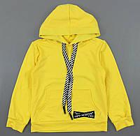 {есть:128,140} Толстовка Off-White для девочек, 128-158 рр. Артикул: OL003-жёлтый