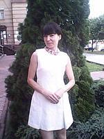 Короткое летнее женское платье белое в стиле Dolce&Gabbana приталенное нарядное яркое стильное