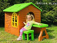 Детский домик .  Дитячий майданчик  Набір хатка + стіл + крісло