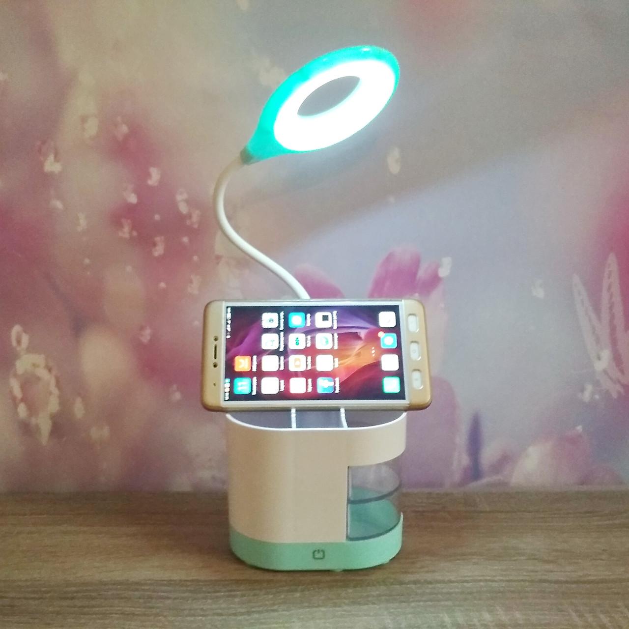 Кольцевая лампа-органайзер ITEM 6575 с подставкой для телефона на аккумуляторе.