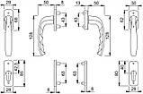 Балконный гарнитур Hoppe New York с розетками бронза F4, фото 2