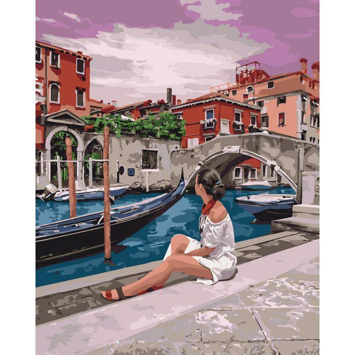 Картина по номерам Удивительная Венеция ТМ Идейка 40 х 50 см КНО4658