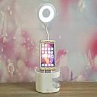 Кольцевая лампа-органайзер ITEM 6575 с подставкой для телефона на аккумуляторе., фото 6
