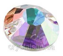 Пришивные хрустальные стразы Viva12 Preciosa (Чехия) 10 мм Crystal AB 2-й сорт