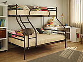 Двухъярусная трехспальная металлическая кровать СМАРТ ТМ Метакам