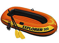 """Надувная двухместная лодка Intex """"Explorer 300"""", 58332, весла + насос, 211х117х41см, до 186кг"""