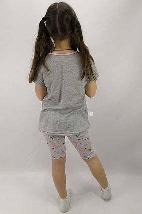 Футболка и трессы Фламинго на девочку, фото 2