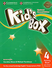 Рабочая тетрадь  Kid's Box Updated 2nd Edition 4 Activity book  + Online Resources