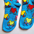 Носки высокие с принтом Сердце с ногами и руками размер 37-43, фото 3