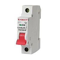 Модульный автоматический выключатель e.mcb.stand.45.1.B6, 1р, 6А, В, 4,5 кА