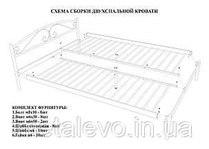 Металлическая кровать с изножьем ФЛАЙ-2 ТМ Метакам, фото 2