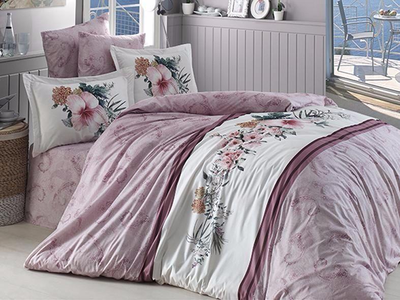 Комплект постельного белья First Choice Ranforce Deluxe евро Sahra