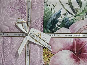 Комплект постельного белья First Choice Ranforce Deluxe евро Sahra, фото 2
