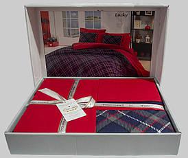 Комплект постельного белья First Choice Ranforce Deluxe евро Lucky, фото 2