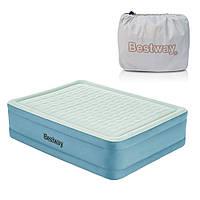 Двухспальная надувная кровать Bestway 69058 (203 х 152 х 51 см) встроенный электронасос  KK