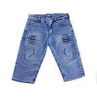 Капри для мальчика джинсовые 128-152 (8-12 лет) арт.66011