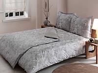 TAC Delux  Shadow gri семейный комплект постельного белья