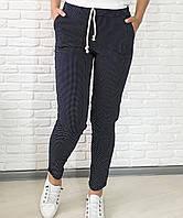 Женские брюки коттон стрейч бежевый джинс темно-синий 42 44 46 48 50 52