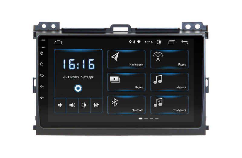 Toyota Prado 120 Incar Android 9 с адаптером усилителя штатная магнитола на тойота на тойоту прадо 120