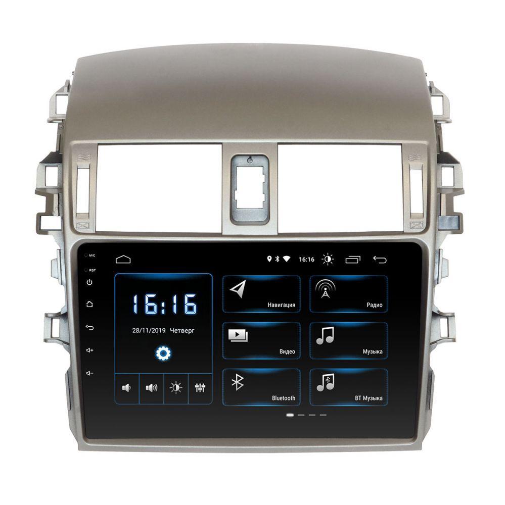 """Toyota Corolla 09-13 Incar Android 9 9"""" DSP штатная магнитола на тойота на тойоту королла"""