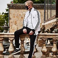 Спортивный костюм мужской Adidas x black-white осенний весенний ЛЮКС