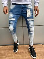 Мужские джинсы Mariano 7 blue/white