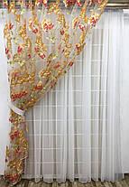 Комплект тюлей Македония №4 (2шт 300*270см и подхваты), фото 3