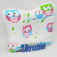 Подушка-бабочка для младенцев ортопедическая