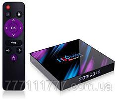 Смарт ТВ приставка для телевизора на андроиде H96 MAX 4/64Gb
