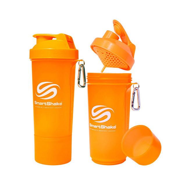 Шейкер для спортивного питания SmartShake Slim NEON Orange 500 мл оранжевый