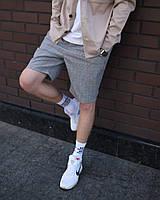 Стильные мужские шорты ТУР Duncan серые мелкая клетка, модные