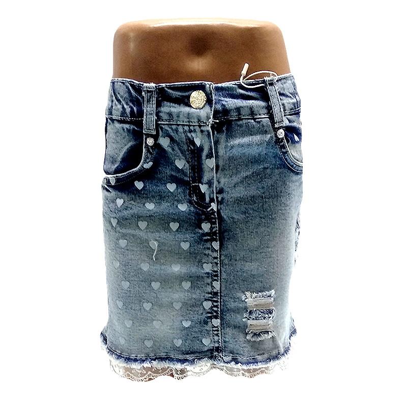 Юбка джинсовая  98-116 (3-6 лет)