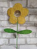 Заготовки для творчості із сизалю у вигляді квіточки, висота 40 см, 22 грн, фото 4