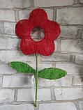 Заготовки для творчості із сизалю у вигляді квіточки, висота 40 см, 22 грн, фото 3