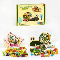 Деревянная игра Шнуровка С 39331 2 вида