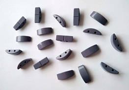 Звенья турманиевые для браслетов (М-26) Серый