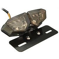 Задний фонарь, фара мото DONGMU LED с поворотами, фара-стоп