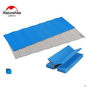 Туристический складной коврик Naturehike полиуретановый. Синий
