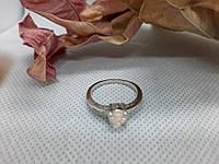 Красивое кольцо с огненным опалом в серебре 17,2 размер. Кольцо - огненный опал в кредит 0%